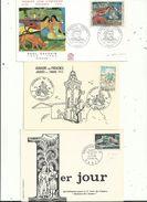 """3 """" Premier Jour """"  N° 1710 ( Jdt 1972)  N° 1448 (maison Des Jeunes 1965) Et 1568 (arearea 1968 )..à Voir - FDC"""