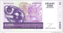 Madagascar - Pick 89a - 1000 Ariary 2004 - Unc - Madagascar