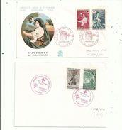 """2 """" Premier Jour """"  N° 1580/81 (croix Rouge 1968) N° 2247/48 (croix Rouge 1982)..............à Voir - FDC"""