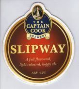 CAPTAIN COOK BREWERY (STOKESLEY, ENGLAND) - SLIPWAY - PUMP CLIP FRONT - Signs