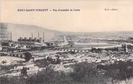 INDUSTRIE - 54 - PONT SAINT VINCENT : Vue D'ensemble De L'Usine - CPA Usine Entreprise Fabrik Fabriek Factory Industry - Other Municipalities