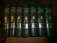 Nouveau Larousse Illustré,7 Volumes 1897-1904,Claude Augé, Dos Cuir Titré Dictionnaire Larousse, Très Beau, à Prendre. - Dictionaries