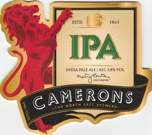 CAMERONS BREWERY (HARTLEPOOL, ENGLAND) - IPA - PUMP CLIP FRONT - Signs