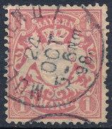 Stamp German States Bavaria 1m 1881-1906 Used Lot#5 - Bavaria