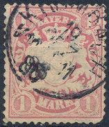 Stamp German States Bavaria 1m 1881-1906 Used Lot#7 - Bavaria
