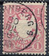 Stamp German States Bavaria 1m 1881-1906 Used Lot#10 - Bavaria
