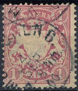Stamp German States Bavaria 1m 1881-1906 Used Lot#12 - Bavaria