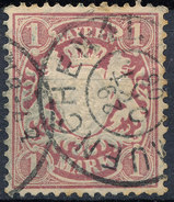 Stamp German States Bavaria 1m 1881-1906 Used Lot#13 - Bavaria