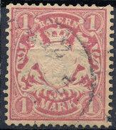 Stamp German States Bavaria 1m 1881-1906 Used Lot#15 - Bavaria