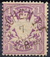 Stamp German States Bavaria 1m 1881-1906 Used Lot#19 - Bavaria