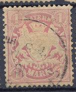 Stamp German States Bavaria 1m 1881-1906 Used Lot#33 - Bavaria