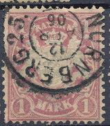 Stamp German States Bavaria 1m 1881-1906 Used Lot#34 - Bavaria