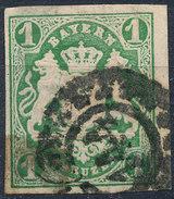 Stamp German States Bavaria 1kr 1867 Used Lot#37 - Bavaria