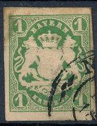 Stamp German States Bavaria 1kr 1867 Used Lot#35 - Bavaria