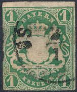 Stamp German States Bavaria 1kr 1867 Used Lot#38 - Bavaria