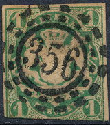 Stamp German States Bavaria 1kr 1867 Used Lot#39 - Bavaria