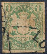 Stamp German States Bavaria 1kr 1867 Used Lot#40 - Bavaria