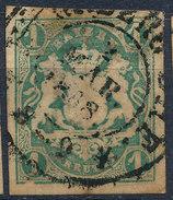 Stamp German States Bavaria 1kr 1867 Used Lot#41 - Bavaria