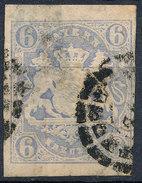 Stamp German States Bavaria 6kr 1867 Used Lot#47 - Bavaria