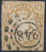 Stamp German States Bavaria 9kr 1867 Used Lot#49 - Bavaria