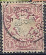 Stamp German States Bavaria 1m 1881-1906 Used Lot#55 - Bavaria