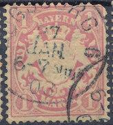 Stamp German States Bavaria 1m 1881-1906 Used Lot#57 - Bavaria