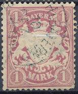 Stamp German States Bavaria 1m 1881-1906 Used Lot#59 - Bavaria