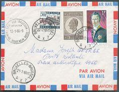 Lettre Par Avion Affr. à 4Fr.50 Obl. Sc BRUXELLES 1 Du 22-12-1965 Vers (cachet Sc) BASE ROI BAUDOUIN Antartica 12-1-66- - Brieven En Documenten