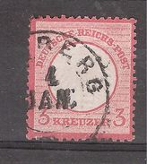 Deutsches Reich / Allemagne Empire 1872 , Yvert N° 9, 3 Kreuzer Rose Carminé , Obl  Bamberg ? TB Cote 17 Euros - Allemagne