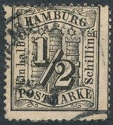 Stamp German States Hamburg 1864 Lot#12 - Hamburg