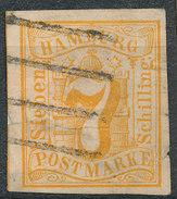Stamp German States Hamburg 1859 Lot#15 - Hamburg