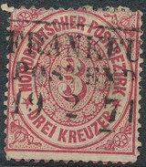 Stamp German States  1869 3kr Lot#34 - North German Conf.