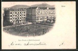 CPA Nice, Lawn-Tennis Et Hotel Continental - Cafés, Hoteles, Restaurantes