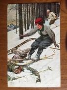 (ski) Ernst PLATZ: Une Chute à Skis, 1909, TBE. - Illustrateurs & Photographes