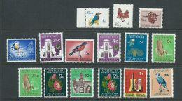 South Africa 1969 - 1972 Phosphor Definitive Set Of 15 MNH - Nuovi