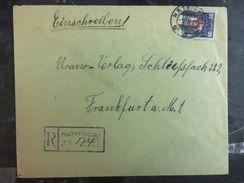 1931 Natkiskiai Lithuania Registered Cover To Frankfurt Germany - Lithuania