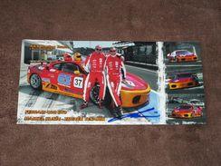 Marcel KUSIN - (Ferrari 430 GT2), Original Signée Carte/card/cartolina 10x21 Cm - Le Mans