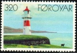 Lighthouse, Thorshavn, 1909, Faroe Islands Stamp SC#131 MNH - Féroé (Iles)