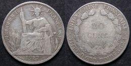 INDOCHINE  20 Cent 1927  SILVER ARGENT  INDOCINA  INDOCHINA  PORT OFFERT - Monnaies
