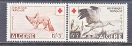 FRENCH  ALGERIA  B 88-9   *  FAUNA  FOX  BIRD  RED  CROSS - Algeria (1924-1962)