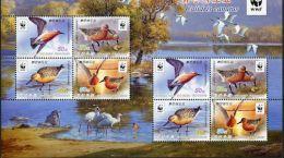 North Korea 2015 Redfin Sandpiper (WWF) Small Plates - Korea, North