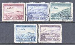 ALBANIA  C 55-59   (o)   AERO   1950  Issue - Albania