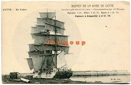 Postale Buffet De La Gare Un Voilier Cette Sete Herault France - Montpellier