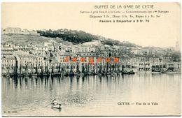 Postale Buffet De La Gare Vue De La Ville Cette Sete Herault France - Montpellier