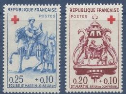 N° 1278 Et 1279 Croix-Rouge Faciale 0,20+0,10 F Et 0,25+0,10 F - Ungebraucht