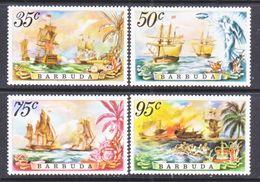 BARBUDA  209-12   **  SHIP  BATTLE  Of  The  SAINTS - Barbados (1966-...)