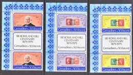 ST. VINCENT  GRENADINES  173-5 X 2    **    SIR  ROLAND  HILL  STAMPS  On  STAMPS - St.Vincent (...-1979)