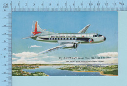 Airplane - Fly-Eastern Airline, Great NewSilver Falcon -postcard Carte Postale - 1946-....: Moderne