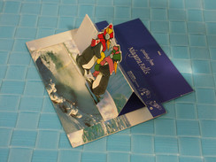 3D Scenic-pop-up - Niagara Falls, Pull Tag And Card Is Now 3d Birds Shift 90 Degree  To Let See Canadian Falls - A Systèmes