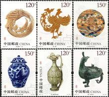 CHINA VR 2017-17 ** Phoenix Cultural Relics Kulturelle Relikte 6v - OFFICIAL ISSUE - DHCHN - 1949 - ... Volksrepublik